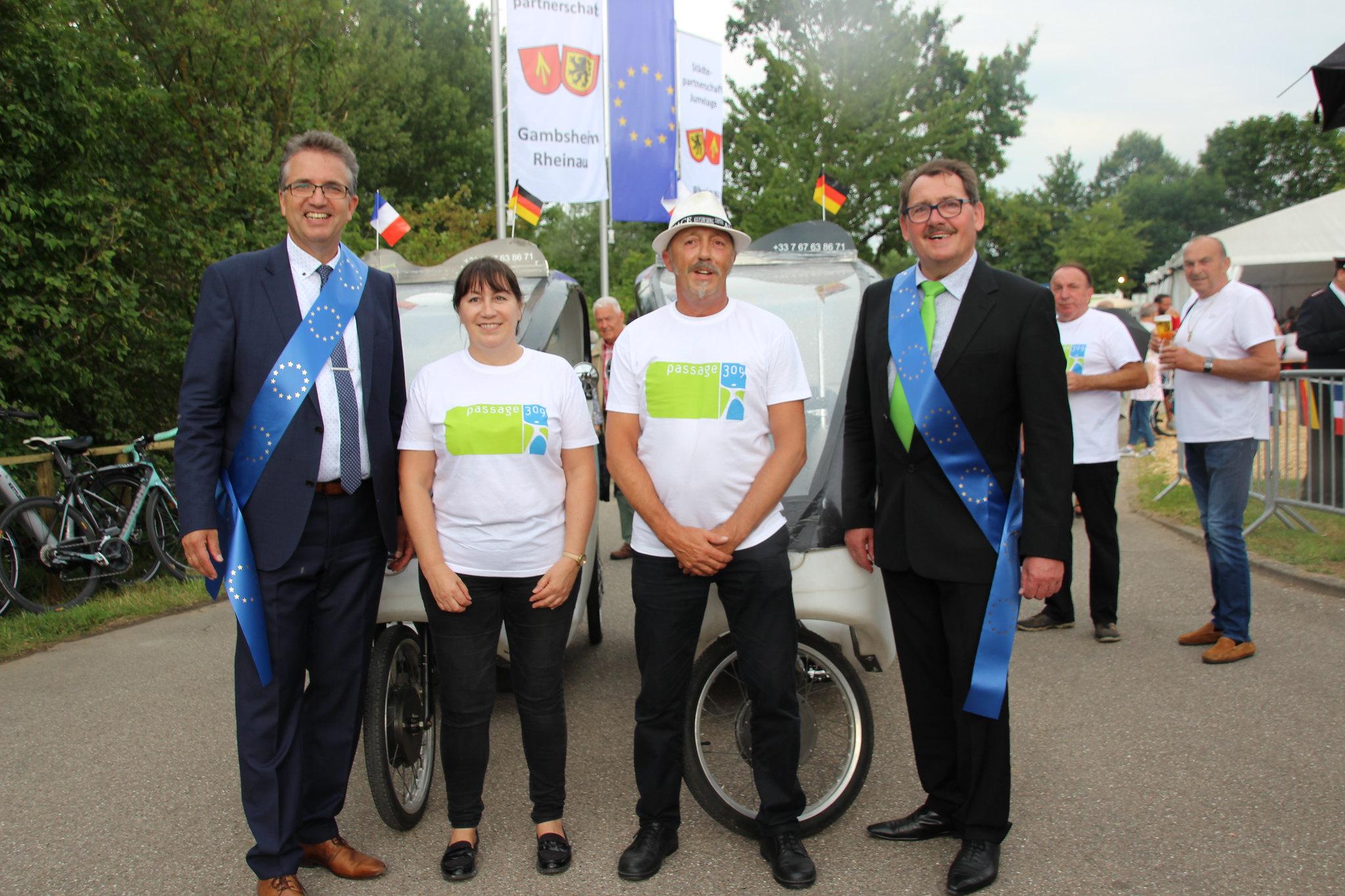 Feier der Städtepartnerschaft Rheinau / Gambsheim am 22. Juni 2019