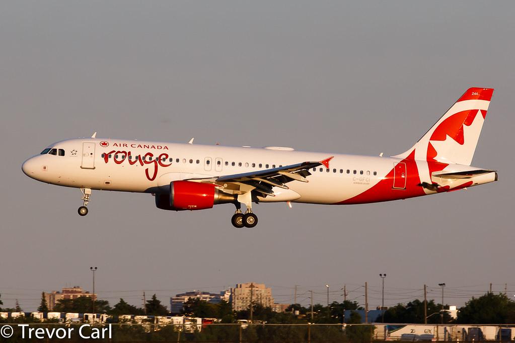 Air Canada Rouge | C-GFCI | Airbus A320-214 | YYZ | CYYZ