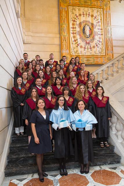 Graduación de los Masters de la Facultad de Educación y Psicología