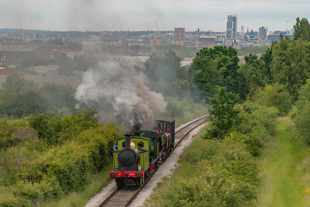 NER 1310 And Brookes No.1 Lead A Freight Train On Middleton Railway