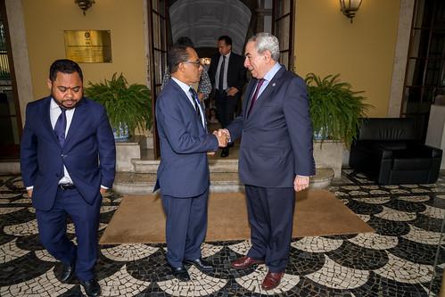 19.06. Secretário Executivo recebe Ministro dos Negócios Estrangeiros e Cooperação de Timor-Leste