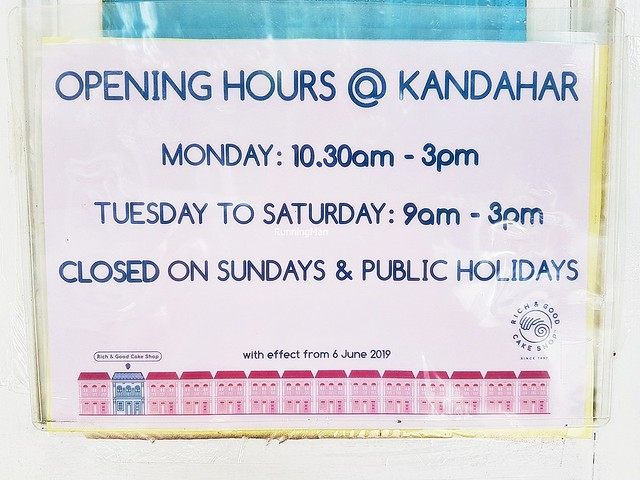 Opening Hours @ Kampong Glam