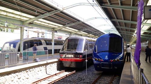 THE ROYAL EXPRESS、リゾート21「黒船電車」、スーパービュー踊り子と観光電車が多数乗り入れる