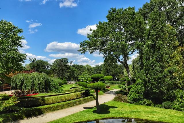View into the castle garden