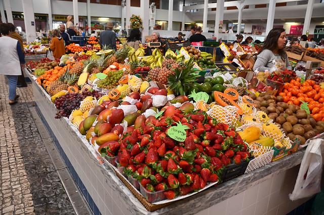 Strawberry season, Market, Setubal, Portugal