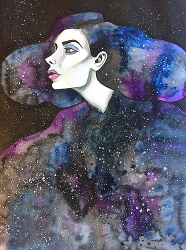 22 - Nyx - Goddess of Night - Art Journal Page