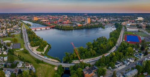 lowell newengland summer drone massachusetts aerial evening mavic2pro sethjdeweyphotography unitedstatesofamerica