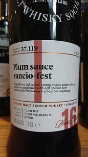 SMWS 37.119 - Plum sauce rancio-fest