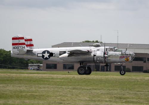 B-25 Panchito Profile on the Runway