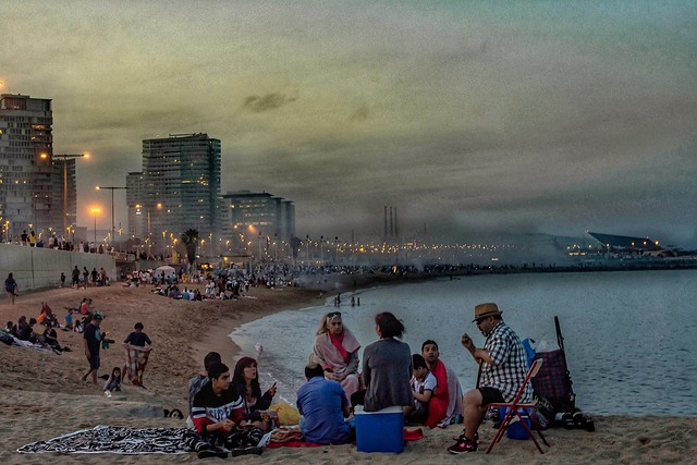 Sant Joan en la playa. Barcelona