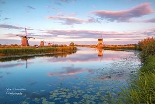 Kinderdijk in the golden hour