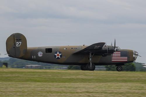 B-24 Diamond Lil on the Runway