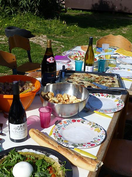 la table du pique-nique