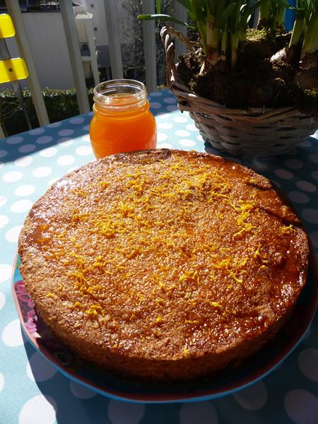 gâteau polenta mandarine