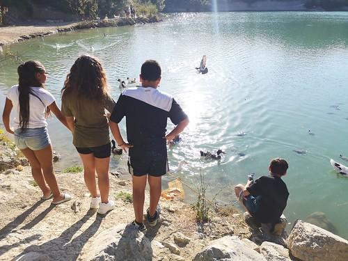 Cenamos en la Laguna de la Colonia Santa Inés
