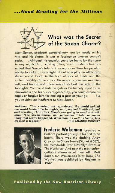 Signet Books 783 - Frederic Wakeman - The Saxon Charm (back)