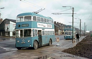 March 1968 Karrier W DKY707 at Bradford Moor.