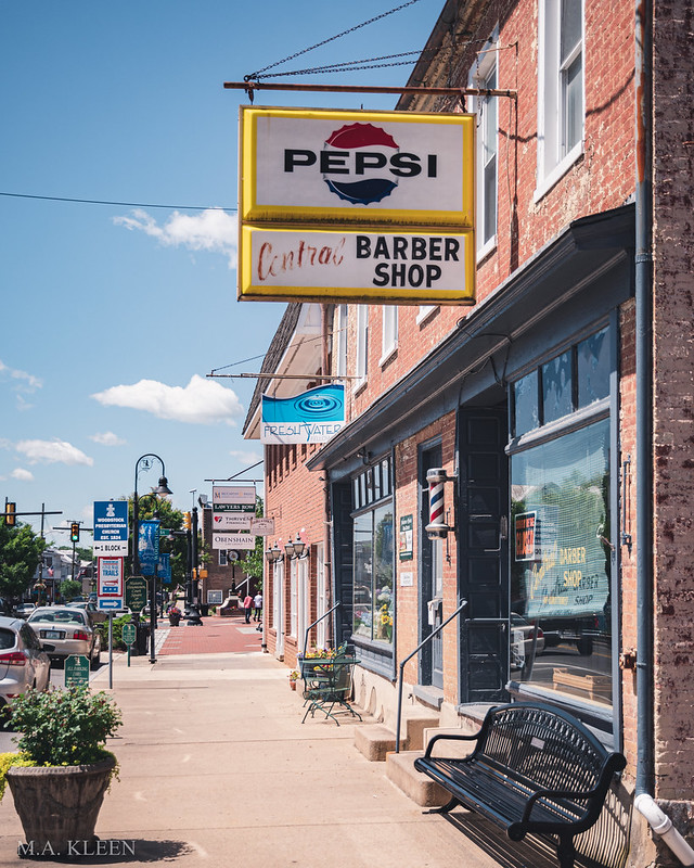 Vintage Pepsi and Barber Shop