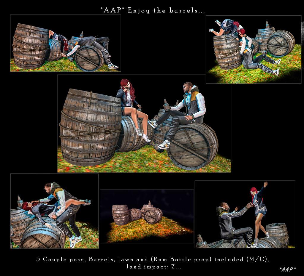 POSES: *AAP* Enjoy the barrels…