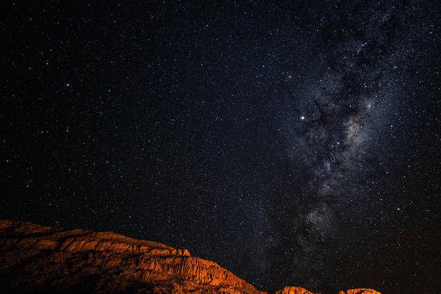Starry sky over the Fish River Canyon