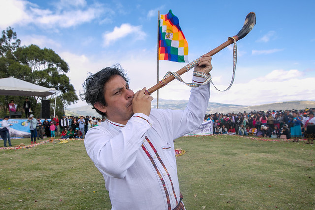 Celebración de la fiesta del Inti Raymi - Cayambe