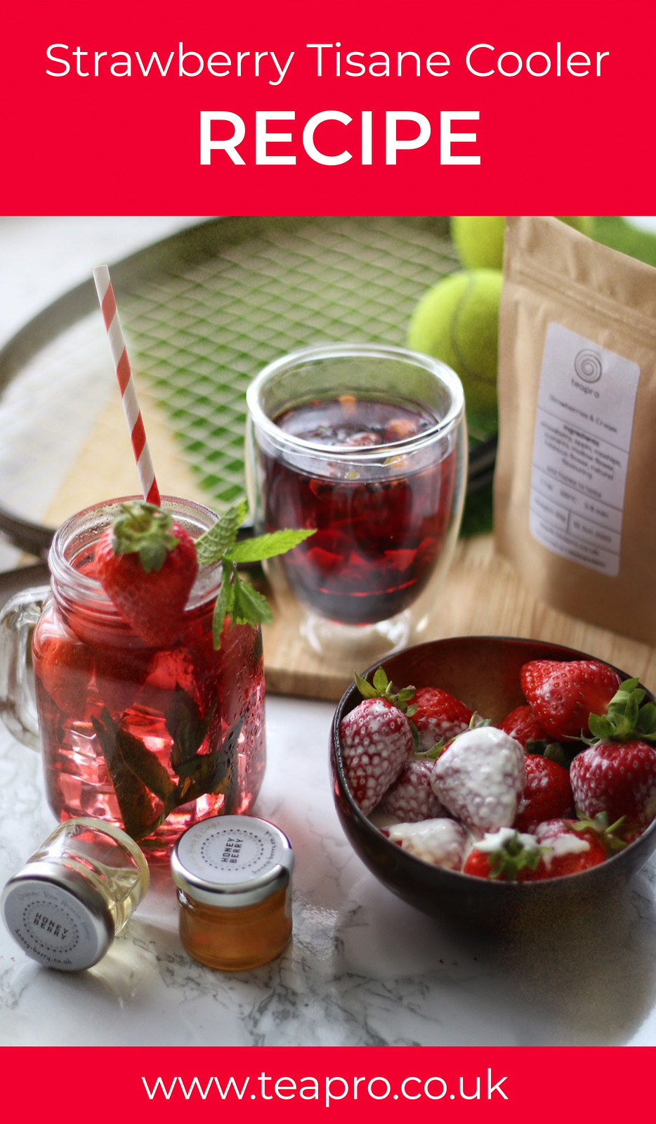 Teapro Strawberries and Cream Tisane Cooler Recipe