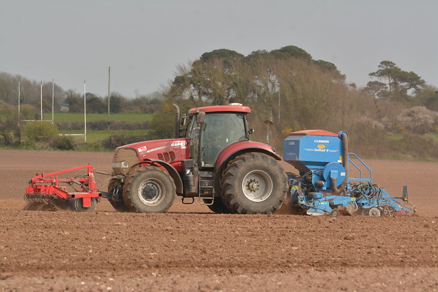 Case IH Puma 230 CVX Tractor with a HE-VA Front Roller 400, a Lemken Solitair 9 Seed Drill & Power Harrow