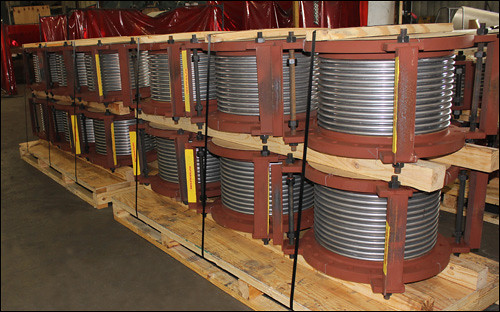 "84"" & 14"" Dia. Single Expansion Joints Custom Designed for a Pipe Line in an Utility Plant"
