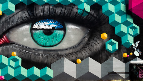 streetart colorful eye wywood