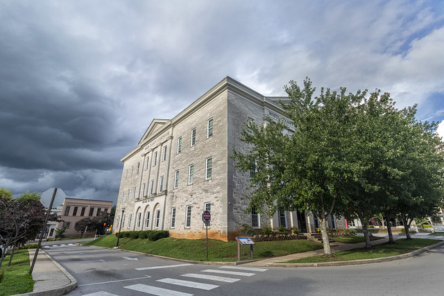 White County Courthouse, storm clouds, White County, Tennessee 1