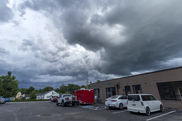 Happy Trails Brewery, storm clouds, White County, Tennessee