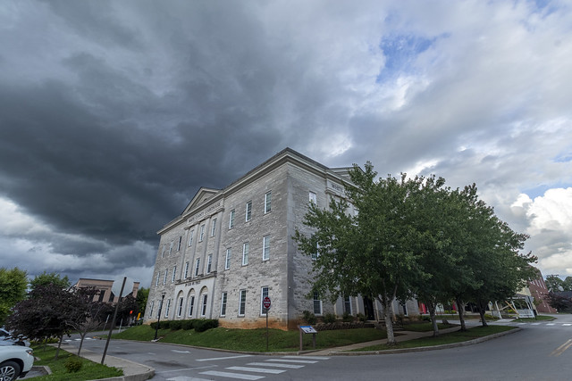 White County Courthouse, storm clouds, White County, Tennessee 2