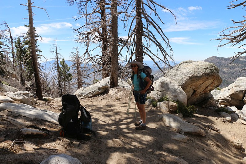 We took a well-deserved break and ate lunch at Hidden Lake Divide - the long climb was over