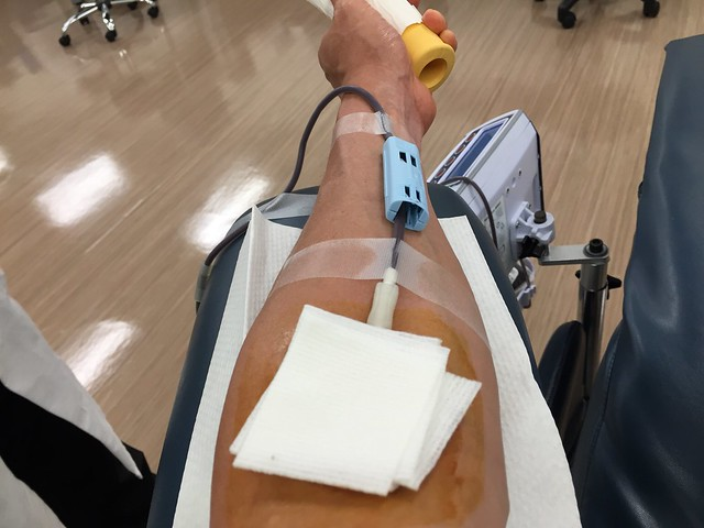 Donating whole blood