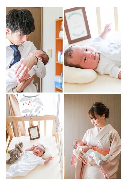 新生児の赤ちゃん 男の子 ご自宅へ出張撮影