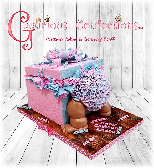 Baby Shower Bum Cake by Geelicious Confections, LLC.