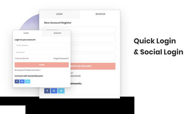 social login & QUICK login