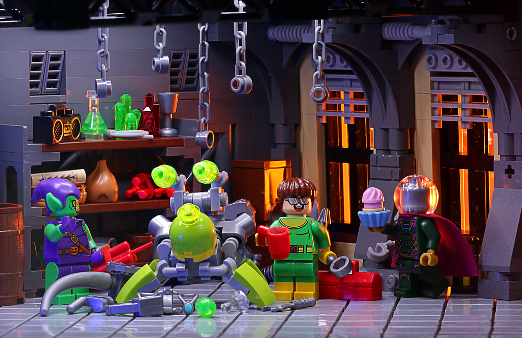 Doc Ock and Friends (custom built Lego model)