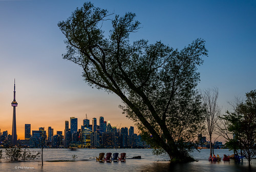 Toronto Island flooding and Toronto sunset skyline | by Phil Marion (176 million views - THANKS)