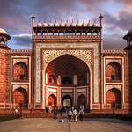 The Great Gate (Darwaza-i rauza) of Taj Mahal, Agra, Uttar Prade