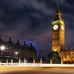 View of The Elizabeth Tower (Big Ben), Palace of Westminster and