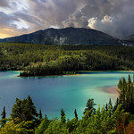 Emerald Lake From South Klondike Highway, Southern Yukon, Canada