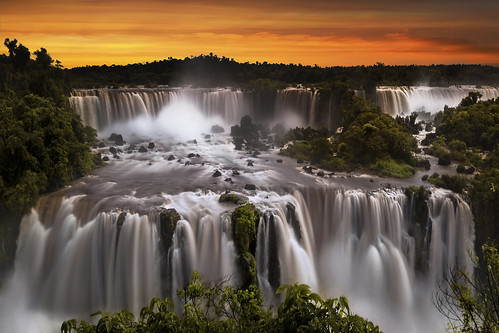View Of Iguazu Falls From Brazilian Side, Parana State, South Am | by tung136
