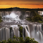 View Of Iguazu Falls From Brazilian Side, Parana State, South Am
