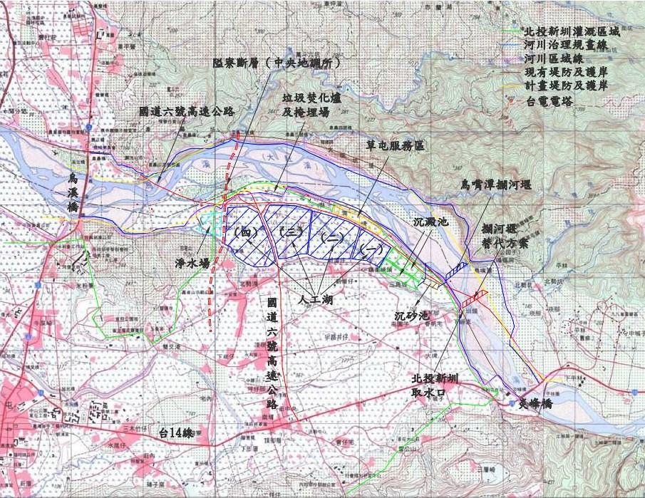 鳥嘴潭人工濕地區位圖。台灣水資源保育聯盟提供