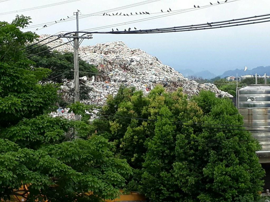 草屯廢棄物掩埋場現況。台灣水資源保育聯盟提供