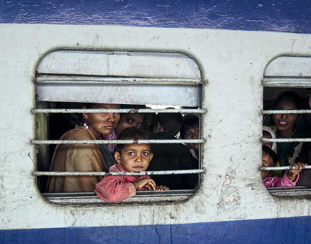 1-India - Train Kid 11x14