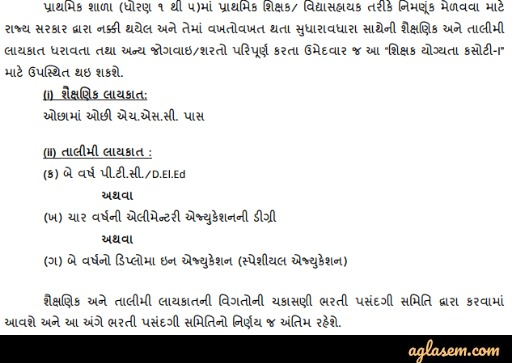 Gujarat TET Gujarat TET 2020: Notification (Releasing Soon), TET 1 and TET 2 Exam Date, Online Form