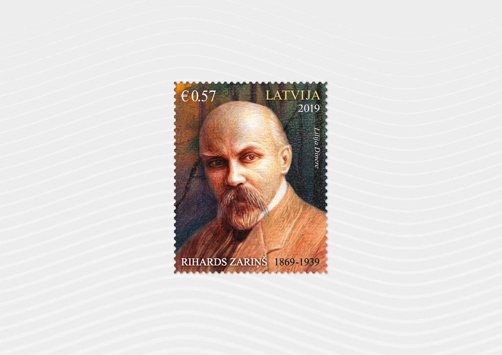 Pastmarka - Rihards Zariņš 150 - Latvijas Pasts - Flickr