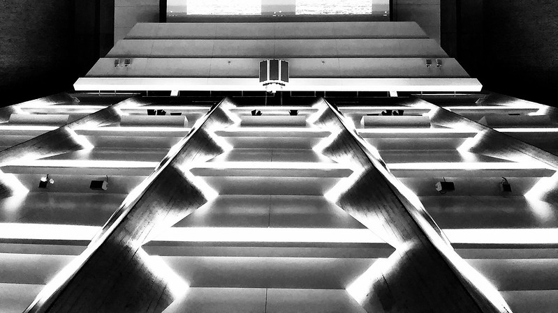 Light tables? No, this is the AudiMax 105 of the TU Berlin!